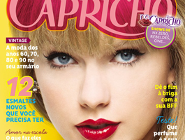 """Taylor Swift estampa a capa da nova edição da """"Capricho"""""""